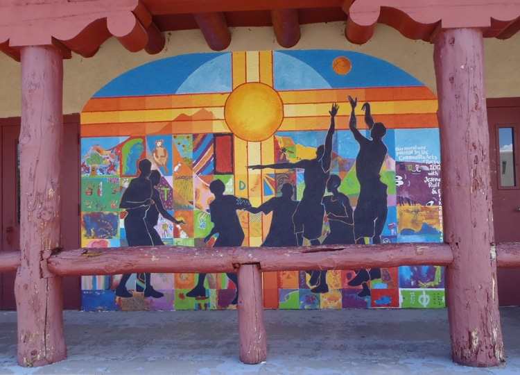 Erika burleighs murals finley gym south of the plaza in socorro new mexico acrylic on stucco 12x 10 publicscrutiny Images